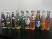 Collection Of Authentic Vintage Minitature Beer And Soda Bottles
