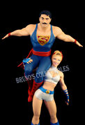 Dc Comics Bombshells Power Girl And Superman Statue Dc Collectibles