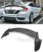 For 16-up Honda Civic Coupe Carbon Fiber Rear Trunk Lip Spoiler Type R Style