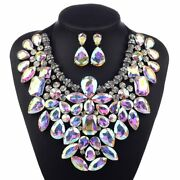 3 Colors Costume Statement Necklace For Women Jewelry Fashion Necklace 1 Set ...