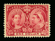 Canada 1897 Jubilee Issue 1 Lake Sc 61 Mint Mh Xf