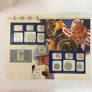 1991 Us Uncirculated Coin Mint Sets Collection,postal Commemorative Society,pandd