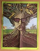 Vintage Poster Bob Dylan The Electric Last Minute Psychedelic Pin-up 1960and039s Eye