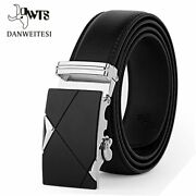 Men Belt Genuine Leather Strap Belts For Mens Male Top Quality Automatic Buckle
