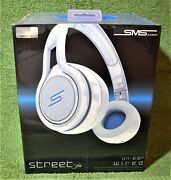 Sms Audio Street By 50 Cent Wired On-ear Headphones-white Ghost White Brand New