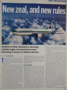 1/1995 Article 2 Pages Air New Zealand Airline Boeing 737