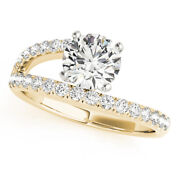 1.35 Ct Round Moissanite Forever One Pave Wrap Engagement Wedding Ring
