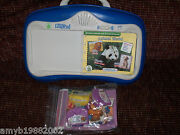 Leap Frog Little Touch Leap Pad With 3 Books And Cartridges Euc