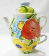 Teapot And Cup Individual Made In Italy Alacarte Jcpenney Serving Decor