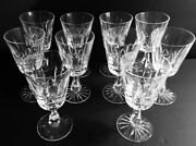 Waterford Crystal Rosslare Water Goblets 6 3/4 Set Of 10 Retired Pattern