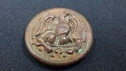 Civil War U.s. Naval Officer's Eagle Coat Button Recovered