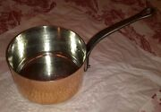 Mauviel Copper Pot Hand Hammered Tin Lined Vintage. Made In France. Unused.