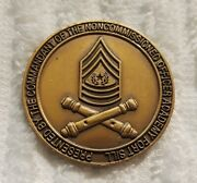 Authentic Ft Sill Ok Commandant Of The Nco Academy Artillery Fa Challenge Coin