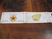 1950s Vintage Red Star Diapers Color Ad Fold Out Pamphlet Advertising Baby Cloth