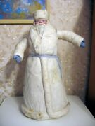 Big Collectible 1960s Vintage Santa Claus Ded Moroz Christmas Doll Toy Soviet