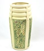 Weller Pottery 10 Atlantic - Roma Berries And Leaves Unmarked Vase Page 366 Huxf