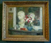 19th C. Signed Antique Oil Painting On Canvas Very Well Executed Work Of Art