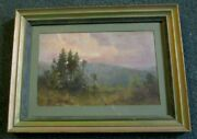 Pawtucket Rhode Island Painting Early 1900's Identified Verso Under Glass