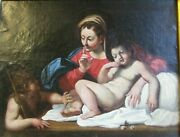 After Annibale Carracci Oil Painting 1560-1609 Antique Old Masters Great Price