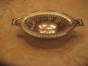 Ornate Silverplate Silver Plate Hallmarks Dish Bowl 1920's To 1940's