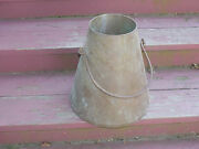 Vintage Funnel Cone Shaped Copper Bucket With Handle