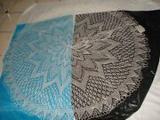 Vintage 80's Cepelia Poland Hand Crocheted Lace Round Tablecloth Table Cover 58