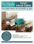 Elna Sew Steady Versa Table 16andrdquo X 13.5andrdquo Or Extend To 16andrdquo X 27andrdquo - Made In Usa