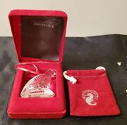 Waterford Crystal First Edition Partridge Christmas Ornament In Box