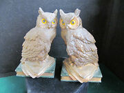 Pair Of Vienna Austria Antique Cold Painted Bronze Owls On Books Bookends 5 1/3
