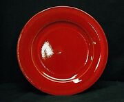 Vintage Pier 1 Imports Earthenware Red 10-3/4 Dinner Plate Pottery Dinnerware