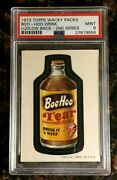 1973 Topps Wacky Packages Boo-hoo Drink 2nd Series Ludlow Black Psa 9 Mint Card