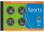 Australia 2006 Commonwealth Games 50c Unc Coins And Stamps Booklet W/ Imperf Block