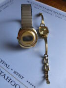 Vtg Lot 2 Wrist Watches Beha Incabloc Timex Both As Is Not Working Free Ship Us