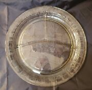 4 Anchor Hocking Depression Glass Yellow Ballerina / Cameo Dinner Grill Plates