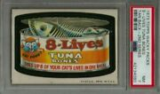 1973 Topps Wacky Packages 8-lives Tuna Bones 2nd Series Tan Back Psa 7 Nm Card