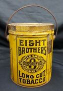 Eight Brothers Long Cut Tobacco Mild Smoke And Chew Round Chew Tobacco Tin
