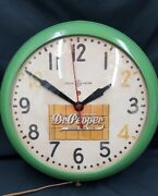 Vintage And Rare General Electric Drink Dr. Pepper Good For Life Round Wall Clock