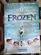 Frozen And Frozen 2 Original Movie Poster 27x40 Ds Lot Of 2 2013 And 2019 Disney U.s