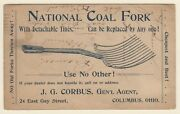Us 1888 Scarce Postal Stationery Coal Fork Advertising Card Mines Energy