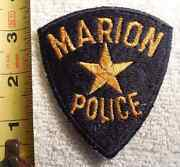 Marion Police Patch Highway Patrol, Sheriff, Ems, State