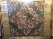 Antique 19th C Qi'ing Chinese Fine Embroidered Silk Panel Framed Embroidery