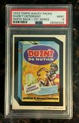 1973 Topps Wacky Packages Duzn't Detergent 1st Series White Back Psa 9 Mint Card