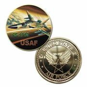 U.s. United States Air Force Usaf   Fb-111a   Gold Plated Challenge Coin