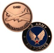 U.s. United States Air Force Usaf | B-29 Superforterss | Copper Plated Coin