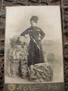Imperial Russian Wwi Cossack Kindjal Dagger Cabinet Studio Photo Red Army