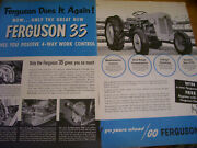 Vintage Ferguson System Advertising - 35 Tractor - New Features - 1955