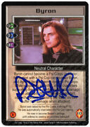 Babylon 5 Ccg Psi-corps Embossed Card Byron Robin Atkin Downes Autograph Blue Tk