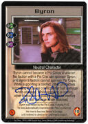 Babylon 5 Ccg Psi-corps Embossed Card Byron Robin Atkin Downes Autograph Blue Tn