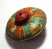 Old Vintage Unique Fine Painted Litho Tin Toy Collectible