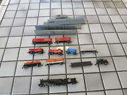 Trix Great Northern Steam Engine/atlas Rolling Stock Lot N Scale